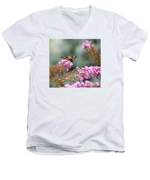 Wings In The Flowers Men's V-Neck T-Shirt by Kerri Farley