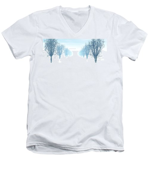 Winter Avenue Men's V-Neck T-Shirt