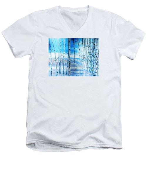 Winter Blues Men's V-Neck T-Shirt by Patti Gordon