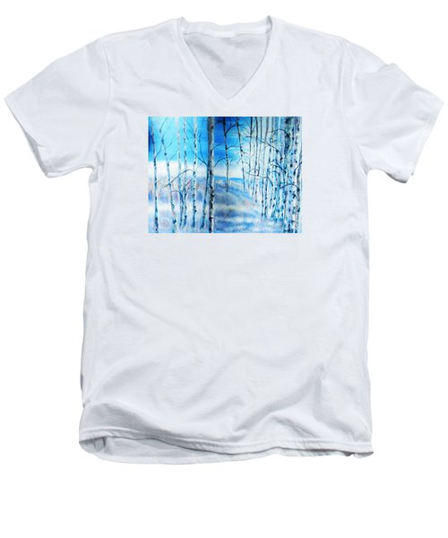 Winter Blues Men's V-Neck T-Shirt