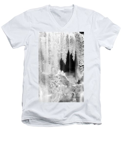 Winter Cave Men's V-Neck T-Shirt by Jeannette Hunt