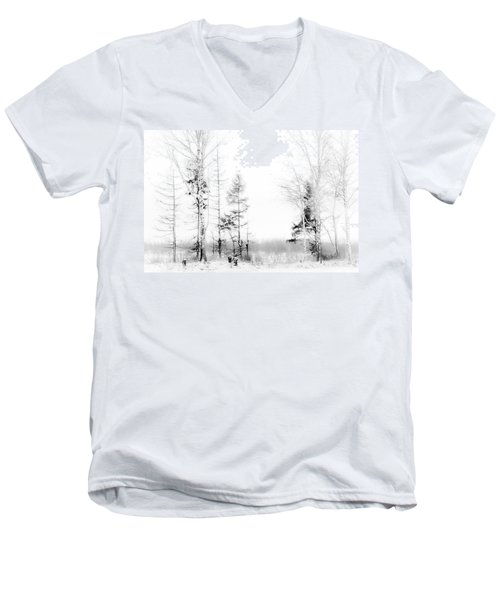 Winter Drawing Men's V-Neck T-Shirt