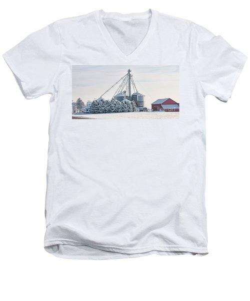 Winter Farm  7365 Men's V-Neck T-Shirt by Jack Schultz
