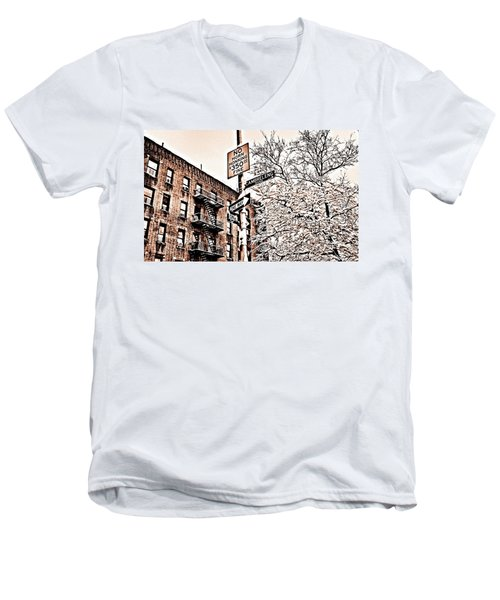 Winter In The Bronx Men's V-Neck T-Shirt