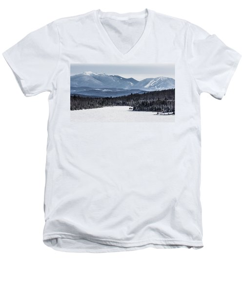 Winter Mountains Men's V-Neck T-Shirt