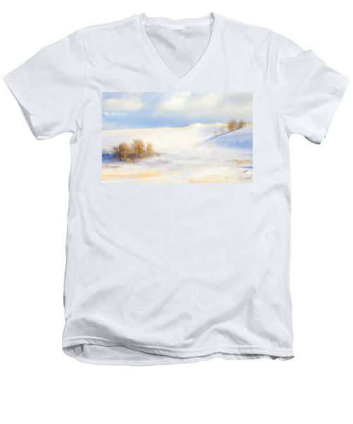 Winter Poplars Men's V-Neck T-Shirt