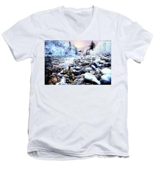 Winter River Men's V-Neck T-Shirt