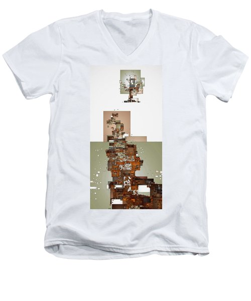 Winter Scene Men's V-Neck T-Shirt by David Hansen