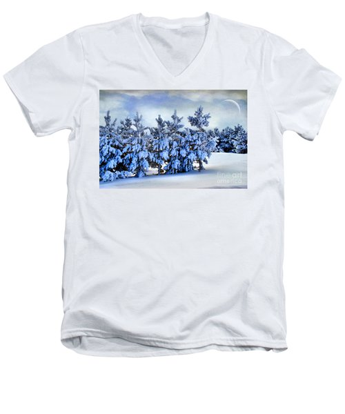 Winter Serenity  Men's V-Neck T-Shirt