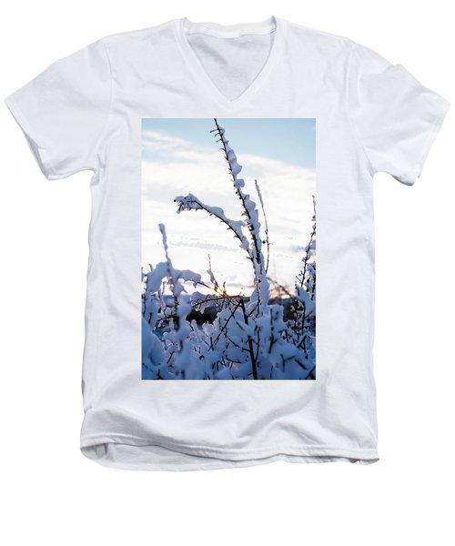 Winter Men's V-Neck T-Shirt by Terry Reynoldson