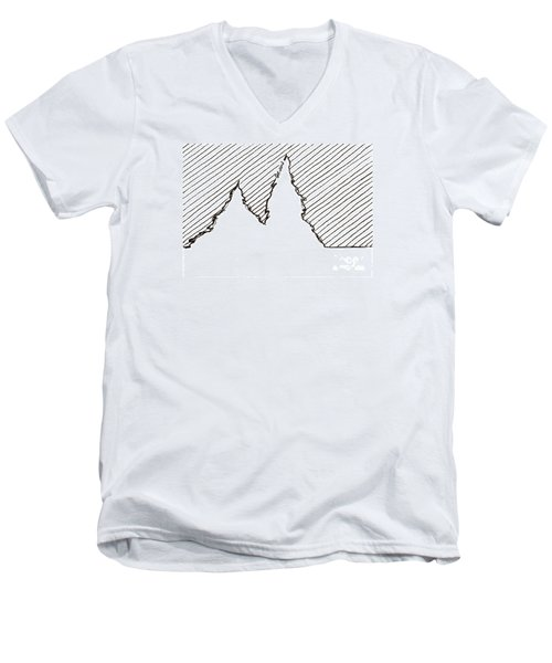 Winter Trees 2 - Aceo Men's V-Neck T-Shirt by Joseph A Langley
