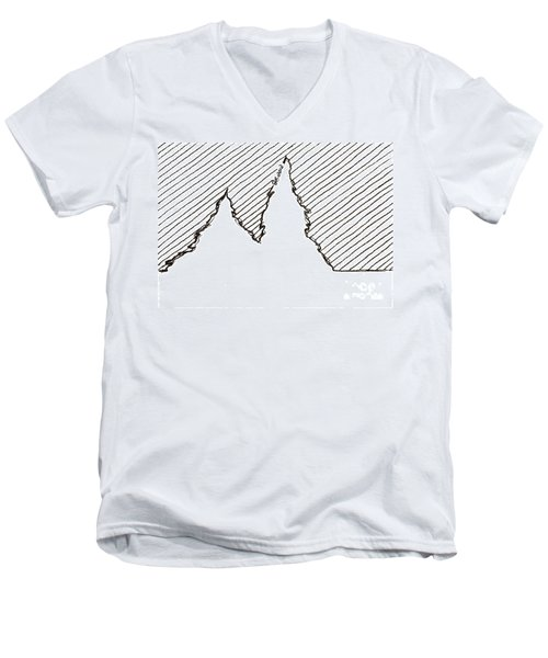 Winter Trees 2 - Aceo Men's V-Neck T-Shirt