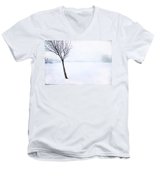Winter Whiteout Men's V-Neck T-Shirt