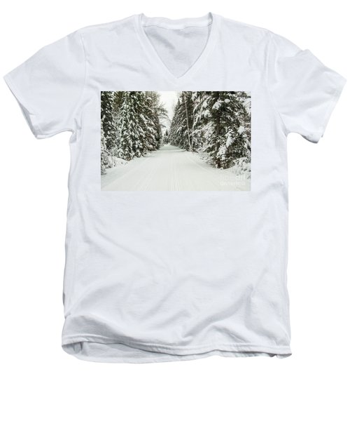 Winter Wonder Land Men's V-Neck T-Shirt by Patrick Shupert