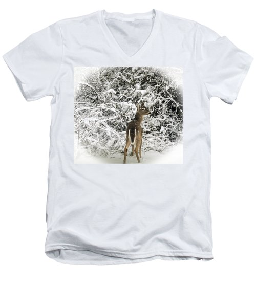 Winter Wonderland Men's V-Neck T-Shirt by Bruce Pritchett