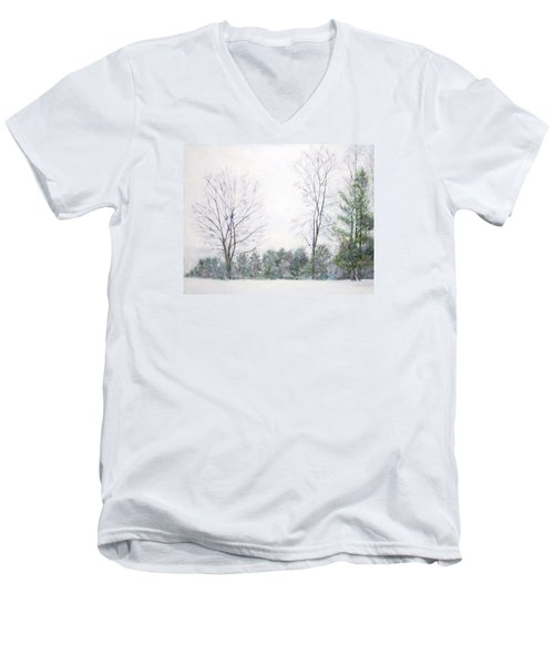 Winter Wonderland Usa Men's V-Neck T-Shirt