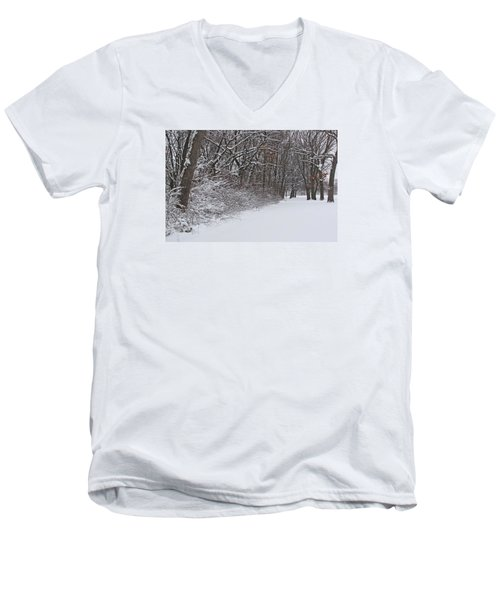 Winters Delight 2 Men's V-Neck T-Shirt by Cedric Hampton