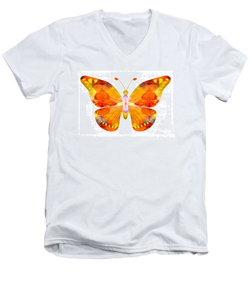 Wisdom And Flight Abstract Butterfly Art By Omaste Witkowski Men's V-Neck T-Shirt
