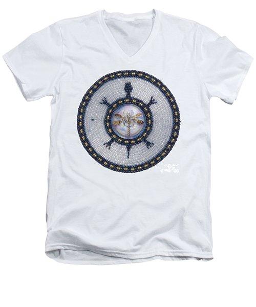 Wishing Pond Turtle Men's V-Neck T-Shirt