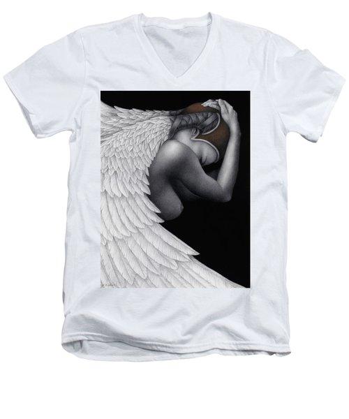 Withdrawal Men's V-Neck T-Shirt by Pat Erickson