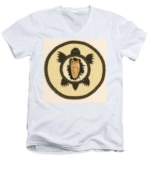 Wolf Turtle Men's V-Neck T-Shirt