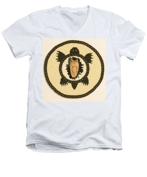 Wolf Turtle Men's V-Neck T-Shirt