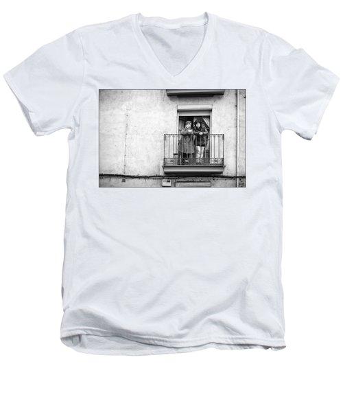 Women In Balcony Men's V-Neck T-Shirt