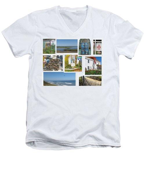 Men's V-Neck T-Shirt featuring the photograph Wonderful Wellfleet by Barbara McDevitt