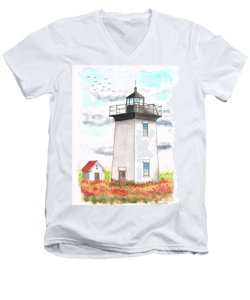 Wood End Lighthouse - Massachusetts Men's V-Neck T-Shirt
