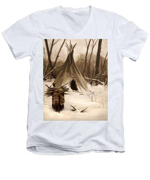 Wood Gatherer Men's V-Neck T-Shirt