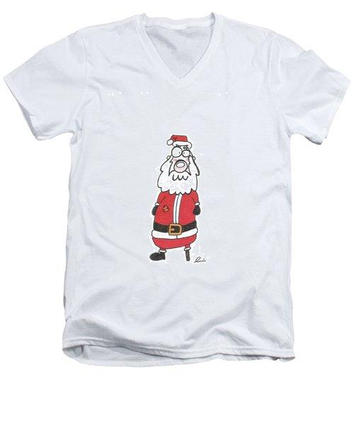 Wooden Leg Santa Men's V-Neck T-Shirt