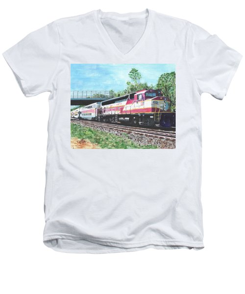 Worcester Bound T Train Men's V-Neck T-Shirt