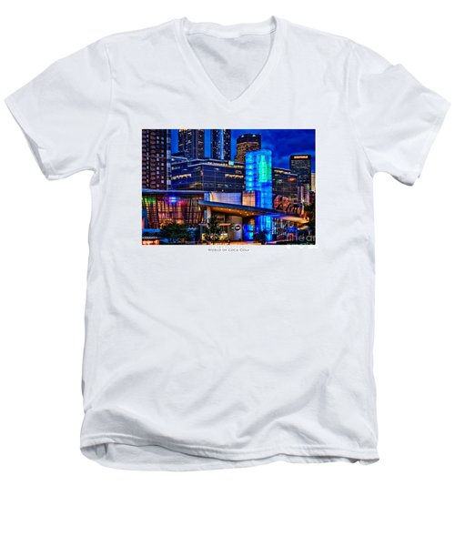 World Of Coca Cola Poster Men's V-Neck T-Shirt