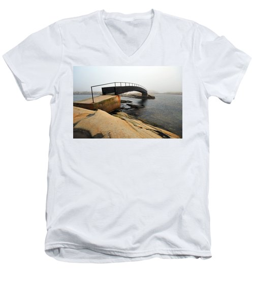 World's End 3 Men's V-Neck T-Shirt by Randi Grace Nilsberg