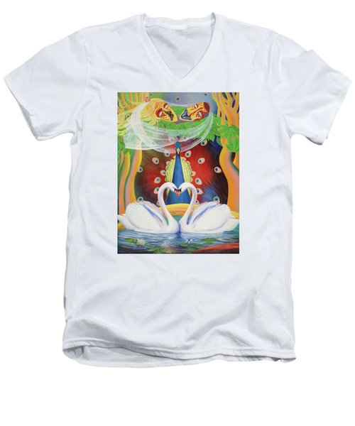 Wrapped In Love Men's V-Neck T-Shirt
