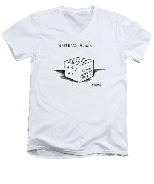 Writer's Block Men's V-Neck T-Shirt