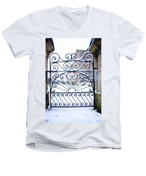 Wrought Iron Snow Men's V-Neck T-Shirt