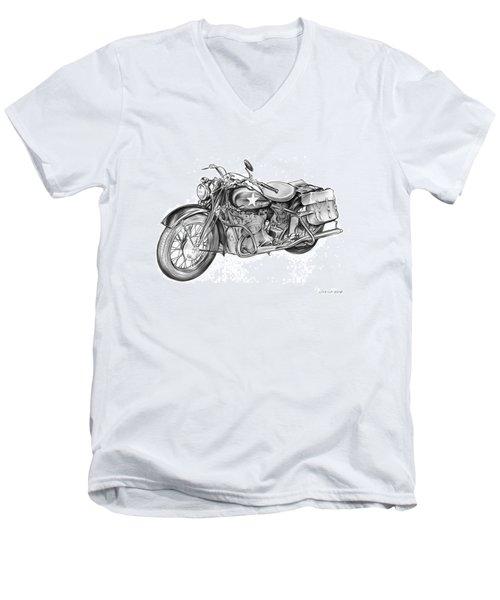 Ww2 Military Motorcycle Men's V-Neck T-Shirt