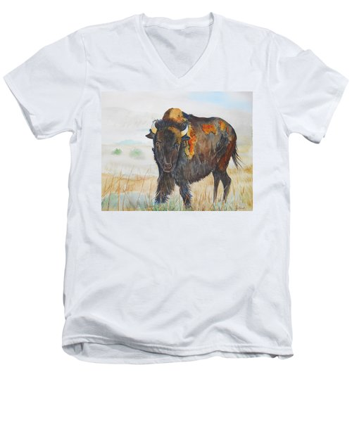 Wyoming - King Of The Prairie Men's V-Neck T-Shirt