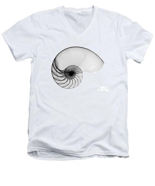 X-ray Of Nautilus Men's V-Neck T-Shirt by Bert Myers