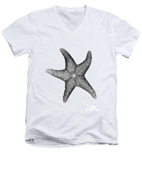 X-ray Of Starfish Men's V-Neck T-Shirt by Bert Myers
