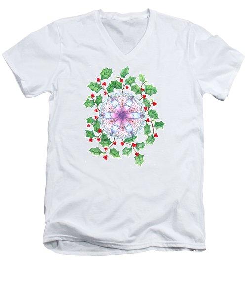 X'mas Wreath Men's V-Neck T-Shirt
