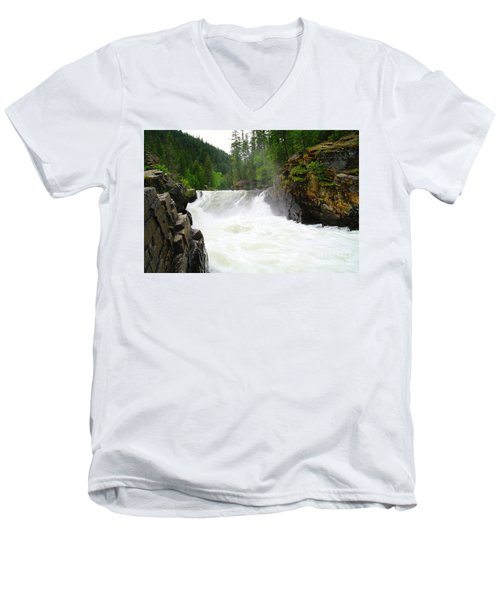 Yaak Falls Men's V-Neck T-Shirt
