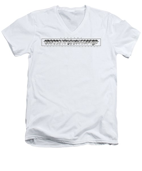 Yankees Men's V-Neck T-Shirt by Tamir Barkan