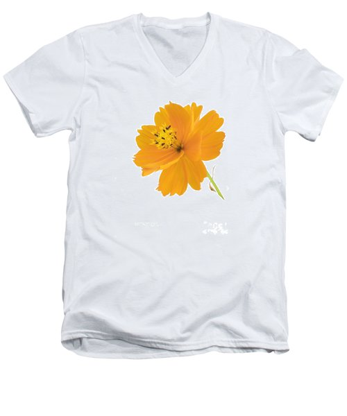 Yellow Coreopsis Men's V-Neck T-Shirt