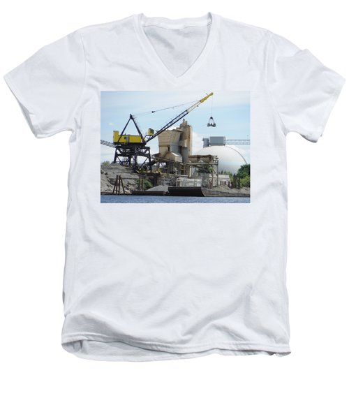 Yellow Crane Men's V-Neck T-Shirt