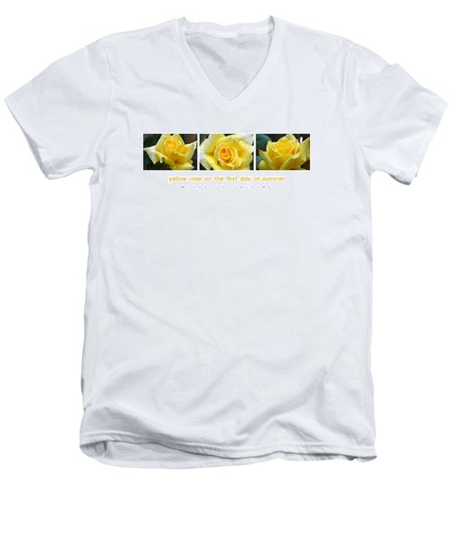 Yellow Rose On The First Day Of Summer Men's V-Neck T-Shirt