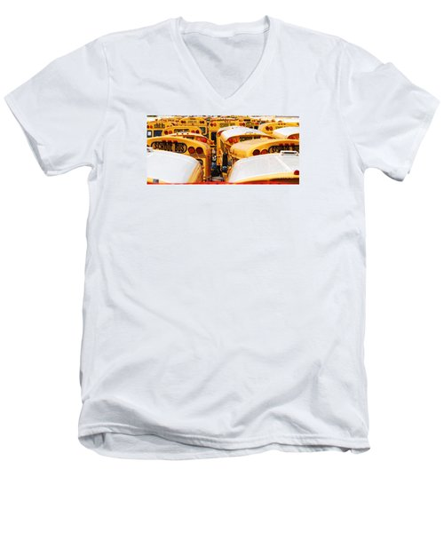 Yellow School Bus Men's V-Neck T-Shirt