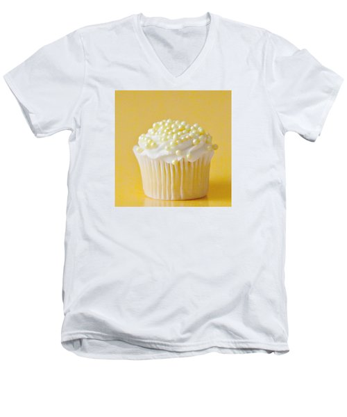 Yellow Sprinkles Men's V-Neck T-Shirt by Art Block Collections
