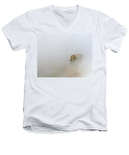 Yellowstone Bison Men's V-Neck T-Shirt